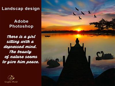 Landscape Design typography business card design banner illustration logo social media design branding landscaping landscape illustration landscape design landscape