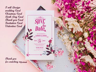 Luxury Attractive Wedding Invitation Card wedding invite business card design illustration social media vector banner logo design branding wedding invitation wedding card