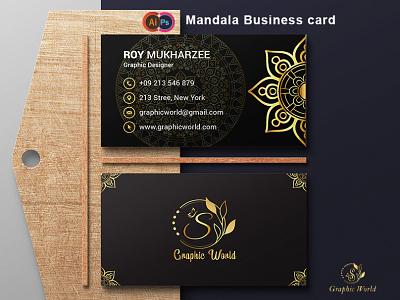 Mandala Business Card wedding invitation vector illustration typography social media banner branding logo business business cards business card design businesscard