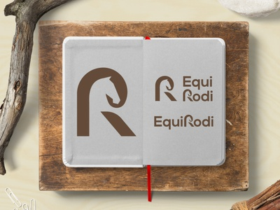 R+Horse design brand letter r animal negative space creative icon mark logo