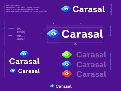 Carasal 3 medic contact lens eye lens lens eye vector branding design negative space creative icon mark brand logo