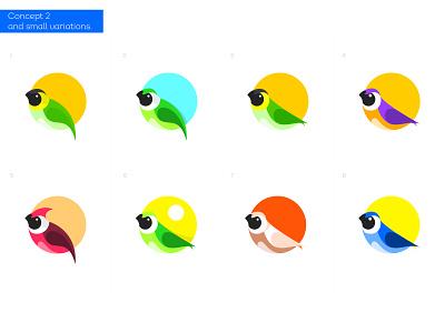 Concept 2 on Bird icon bird logo concept colors bird animal design negative space creative icon mark brand logo