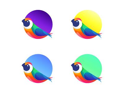 Bird logo Final stage logotype animal tech design letter negative space creative icon mark brand bird logo logo bird