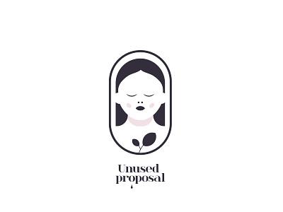 Unused proposal nature woman vector branding negative space creative icon mark logo brand girl female beauty logo