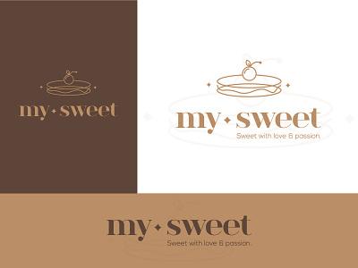 Sweet / Bakery logo design cherry dounts sweets bakery cake branding letter negative space creative icon mark brand logo