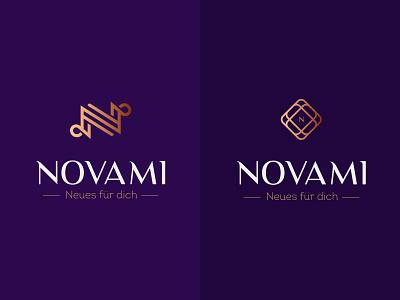 Logo option 3rd round nm n letter design branding elegant logo woman diamond jewelry creative icon mark brand logo