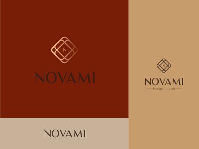 Novami logo letter negative space creative icon mark brand nm n diamond silver store jewelry logo approved