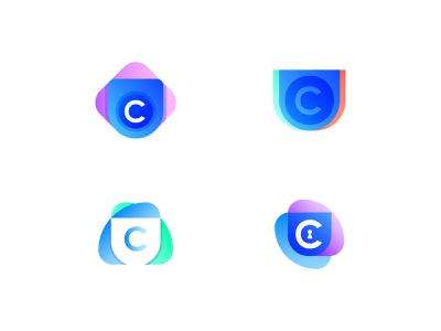 Logo options round 2 / Crypto wallet crypto wallet cryptocurrency finance wallet crypto.bitcoin letter negative space creative icon mark brand logo