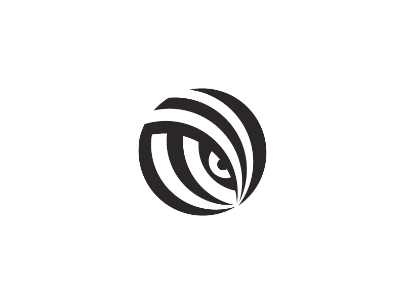 animal eye animal negative space hidden zebra brand logo eye mark