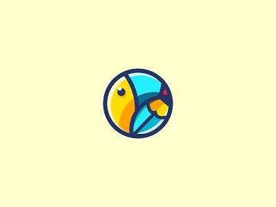 variation for my toucan mark brand tutoring language app logo. icon toucan