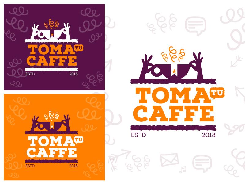 Cafe logo tea hands icon brand coffee cafe logo