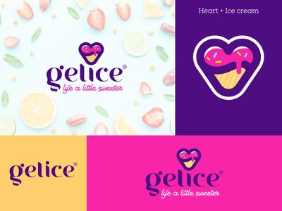 Logo design for a new ice cream store.