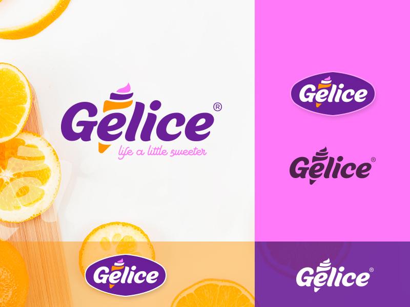 Ice cream Concept 2 premium quality smooth summer gelato ice cream creative mark brand logo