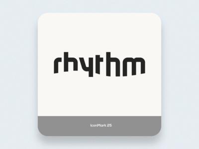 Iconmark 25 note music rythm negative space creative icon mark brand logo