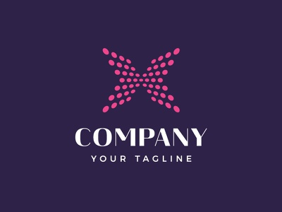 Dotted Letter X Technology Logo Design computers information technology arrows internet pixelated perspective pixels digital dots dotted branding visual identity logo for sale logotype x letter x initial x