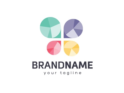 Gemstone Butterfly Logo Design cross graph analytics data pie charts modern clean professional logo for sale visual identity branding logotype colors colorful shiny jewelry precious stones polished gemstones butterfly