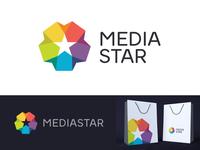 Star in Rainbow Circle Logo Design