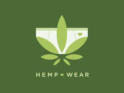 Hemp Underwear / Organic Clothing Logo Design logotype cannabis for sale branding logo underpants undergarments clothes natural organic textiles lingerie sewing panties undies leaf tailoring seamstress plant fibres hemp