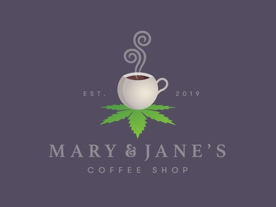 Cannabis Coffee Shop Logo Design