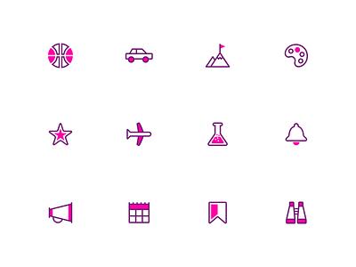 Splash: A duotone icon set illustrator vector duotone iconset ui design icon
