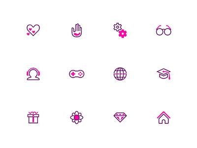Splash: A duotone icon set (part 3) design user inteface illustrator iconography two-tone icon design icon
