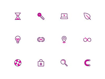 Splash: A duotone icon set (part 4) ui minimalist 48px duotones iconography icons pack iconset svg illustrator