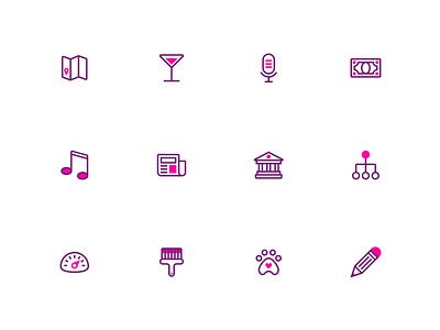 Splash: A duotone icon set (part 5) purple graphics splash adobe branding icons pack duotone iconset icon svg