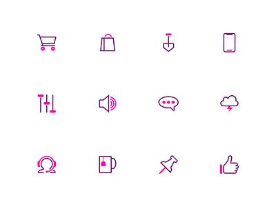 Splash: A duotone icon set (part 7) 48px bold color bold splash minimalist graphic  design icons pack icon iconset ux duotone ui svg