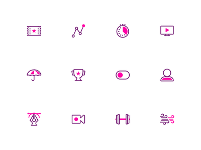 Splash: A duotone icon set (part 8/8) design duotone color rounded ooo illustrator svg vector icons pack icons iconography