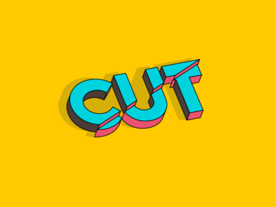 CUT design typography vector logo illustration