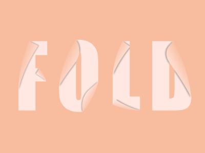 FOLD icon flat minimal lettering art typography illustrator logo illustration design