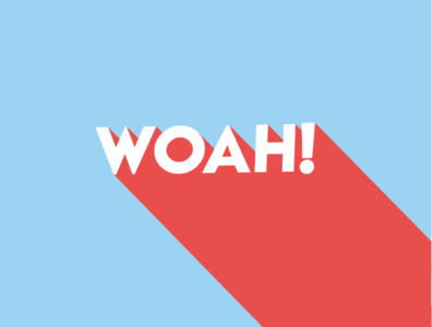 WOAH! vector type icon lettering illustrator art typography logo illustration design