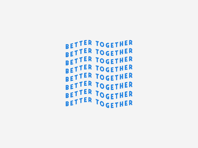 BETTER TOGETHER icon minimal design art lettering typography vector illustrator logo illustration