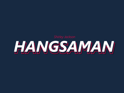 HANGSAMAN lettering icon minimal hangsaman book typography vector illustrator logo illustration design