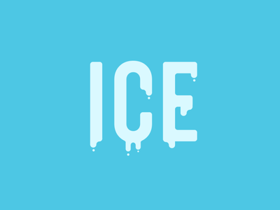 ice minimal icon lettering art typography vector illustrator logo illustration design