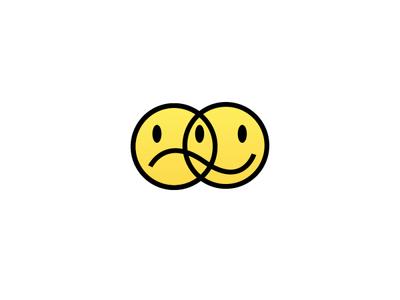 mixed feelings shirt frown smiley face simple cute yellow tattoo grumpy smiley flat minimal icon art vector logo illustration design