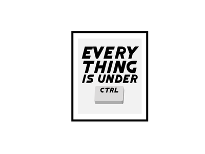 everything is under control texture picture frame keyboard control under everything type nbc tv show zoeys extraordinary playlist icon minimal lettering art typography vector illustrator logo illustration design