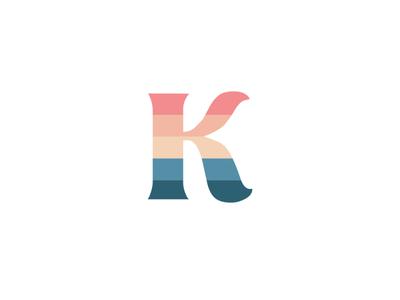 K blue pink white mask clippping palette rainbow kori name icon minimal lettering art typography vector illustrator logo illustration design