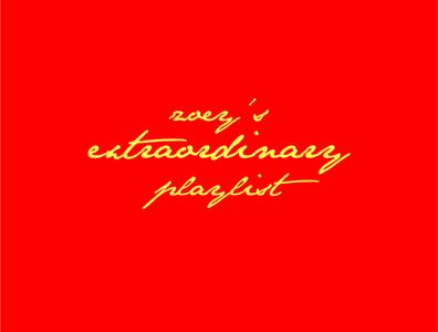 zoey's extraordinary playlist musical tv app yellow red vector illustrator tv series tv show intro zoeys extraordinary playlist playlist extraordinary zoey nbc title movie tv design logo illustration