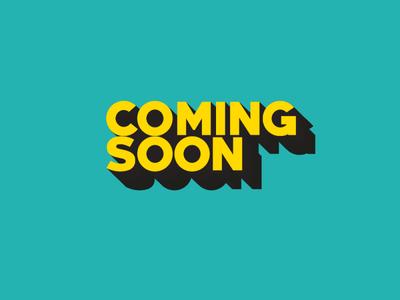 coming soon dvd ui book smile 3d art drop shadow yellow logo theater coming soon coming yellow blue icon lettering typography vector illustrator design logo illustration