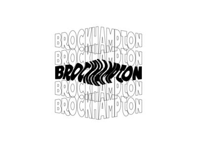 brockhampton outline black white black and white art album art album merch design music art album cover band music brockhampton branding lettering typography vector illustrator illustration design logo