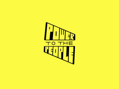 Power to the People type design power to the people people power yellow type icon minimal lettering typography art vector illustrator design logo illustration