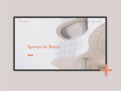 Architecture Website Screen architecture landing page website minimal design layout typography branding ux ui