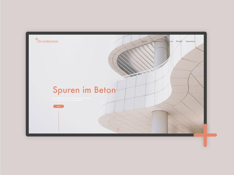 Architecture Website Screen architecture landing page website minimal design layout typography branding ux ui