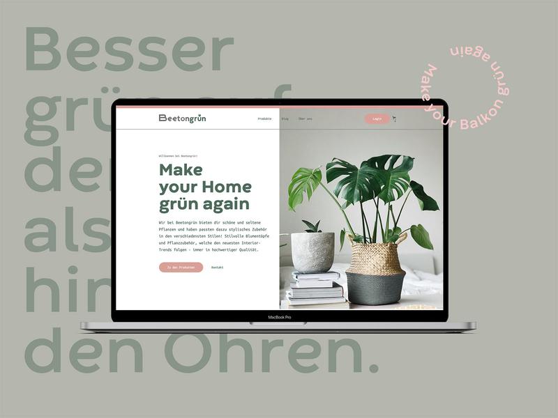 Beetongrün Website corporate design editorial design logo layout web typography website branding ux ui landing page
