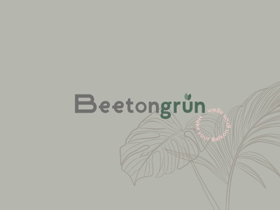 Beetongrün Logo landing page layout design typography ux ui logo editorial design corporate design branding