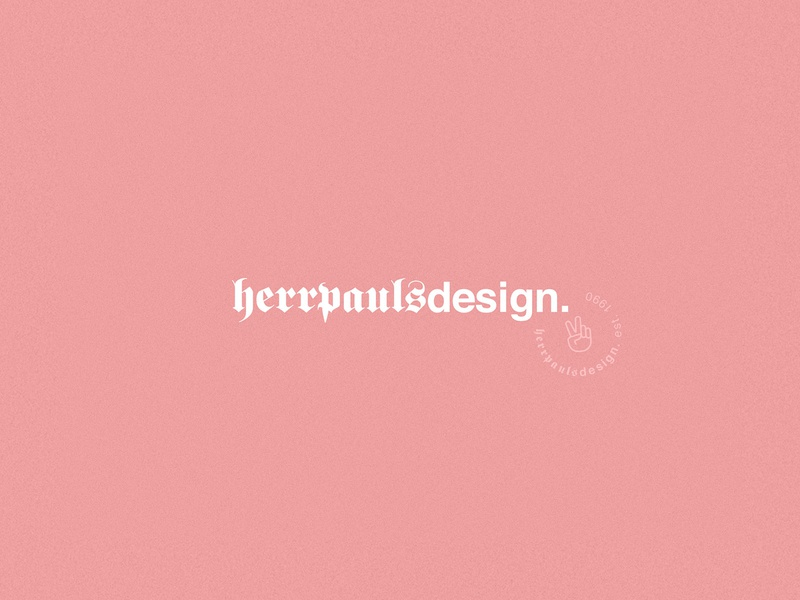 Logo Herrpaulsdesign ui pink website typography landing page minimal design logo corporate design editorial design branding
