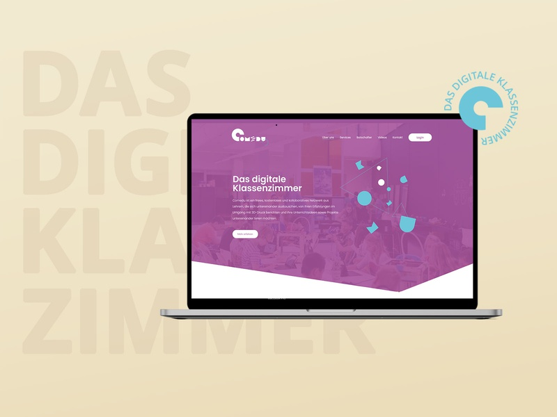 Comedu the digital classroom editorial design typography logo website corporate design ux layout landing page branding ui