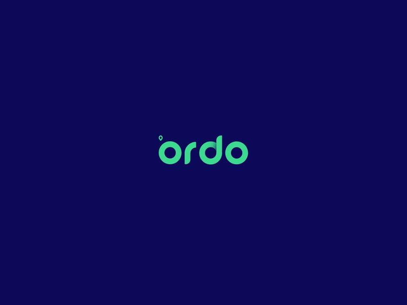 Ordo Startup Logo mobile minimal design app typography ui logo ux layout branding