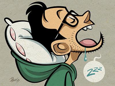 Time to Sleep sleep doodle vector illustration funny character cartoon